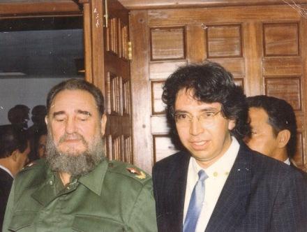 Fidel Castro y Patricio Falconí: en el cumpleaños del Comandante cubano.